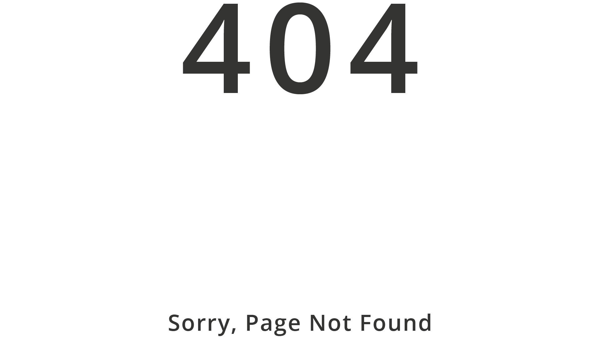 """404 """"Page Not Found;"""